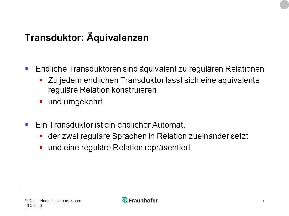 Transduktor: Äquivalenzen