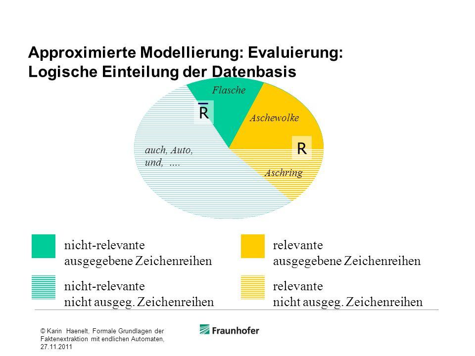 Approximierte Modellierung: Evaluierung: Logische Einteilung der Datenbasis