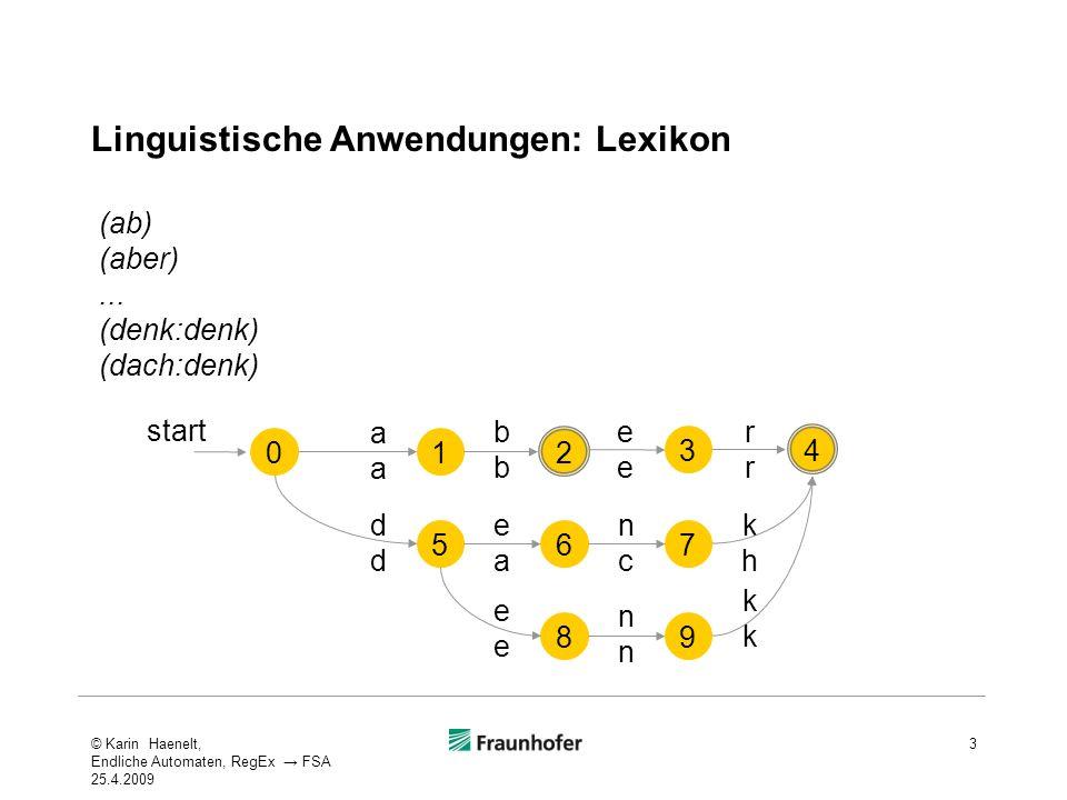 Linguistische Anwendungen: Lexikon