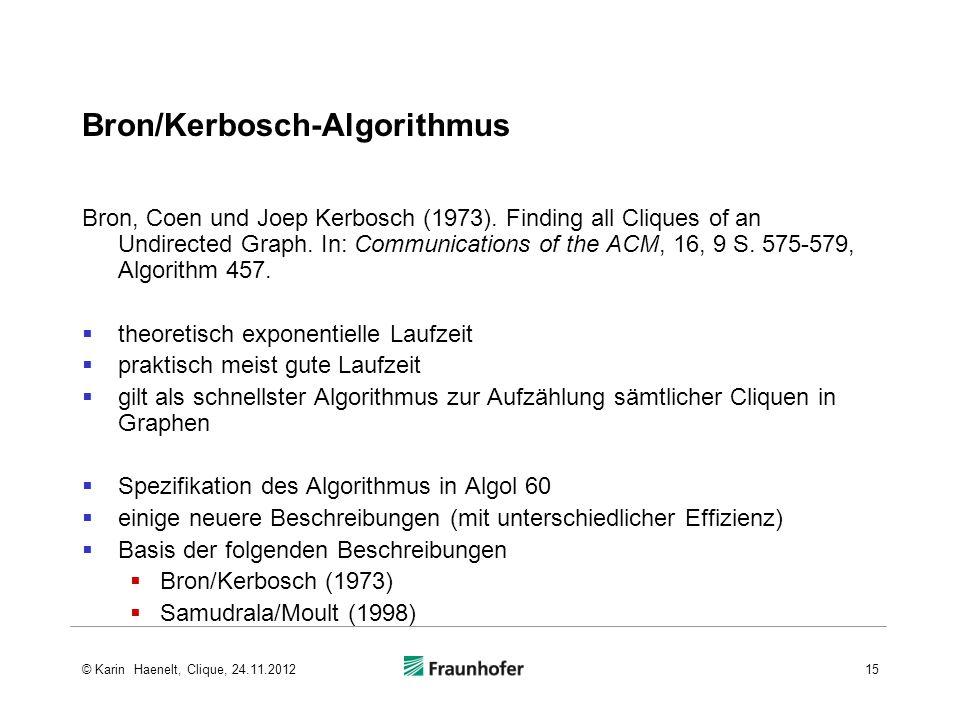 Bron/Kerbosch-Algorithmus