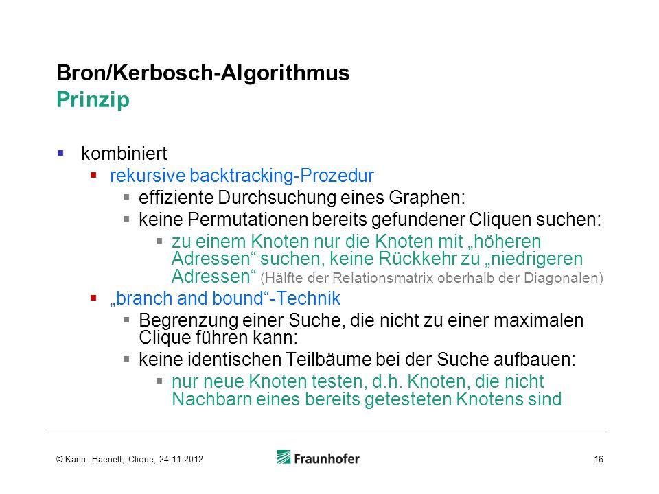 Bron/Kerbosch-Algorithmus Prinzip