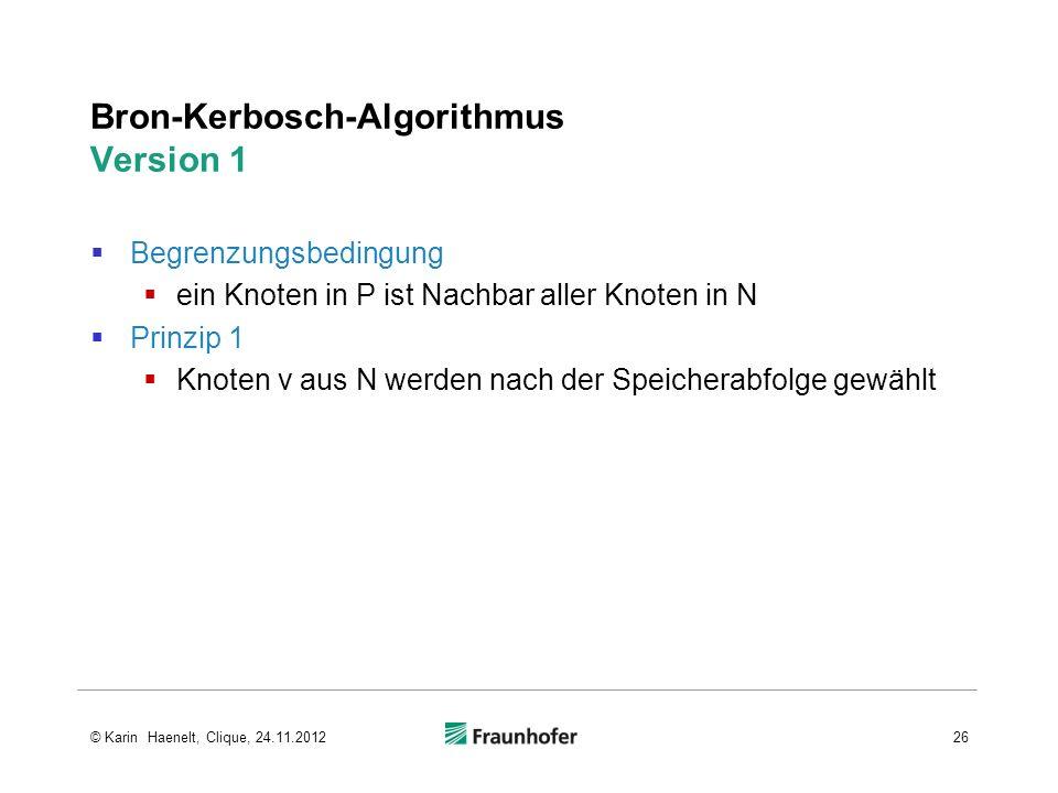 Bron-Kerbosch-Algorithmus Version 1