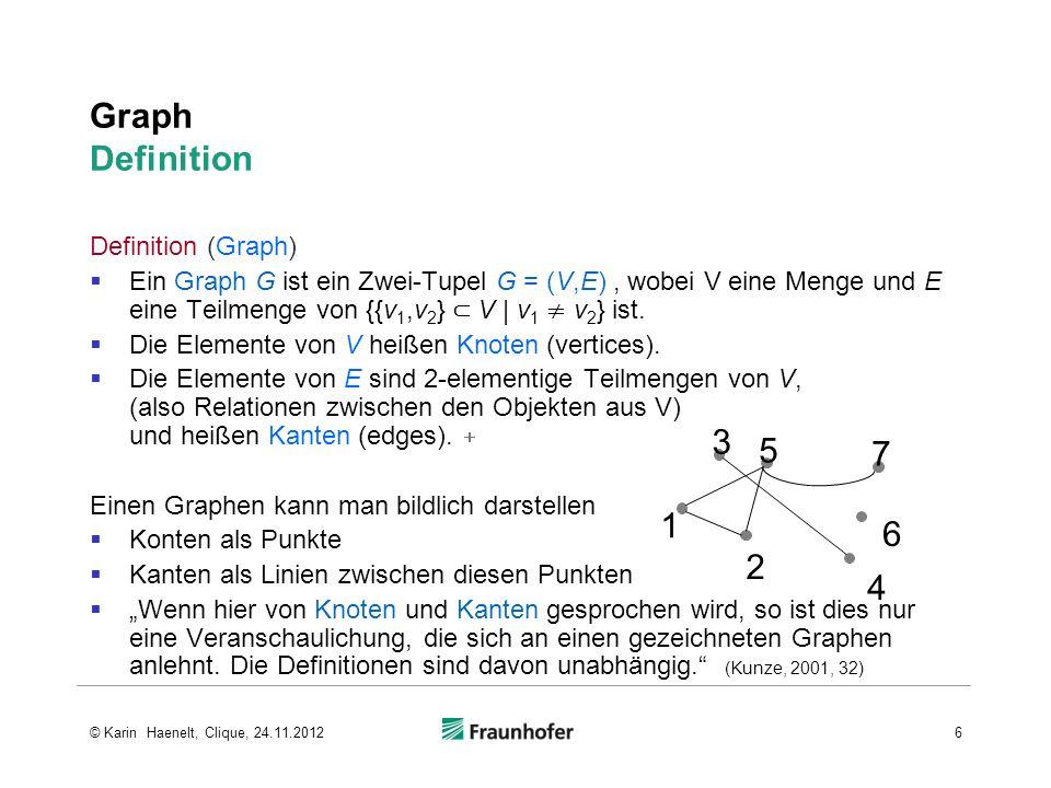 Graph Definition 3 5 7 1 6 2 4 Definition (Graph)