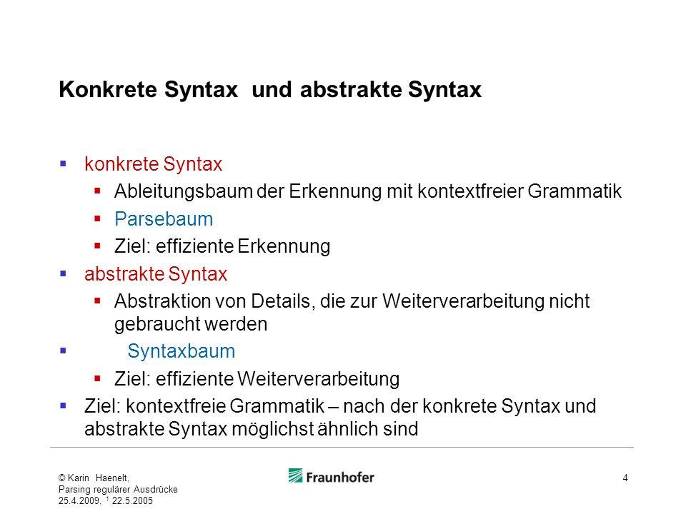 Konkrete Syntax und abstrakte Syntax