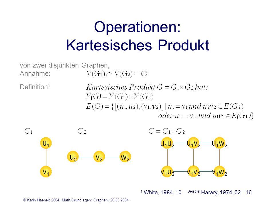 Operationen: Kartesisches Produkt