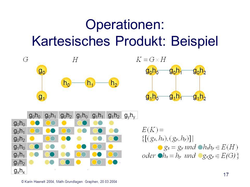 Operationen: Kartesisches Produkt: Beispiel