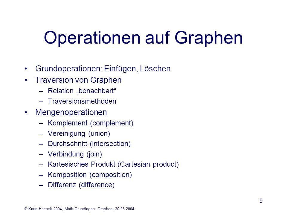 Operationen auf Graphen