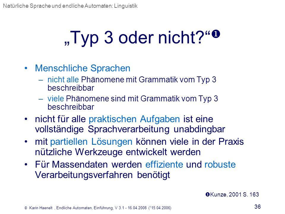 """""""Typ 3 oder nicht  Menschliche Sprachen"""