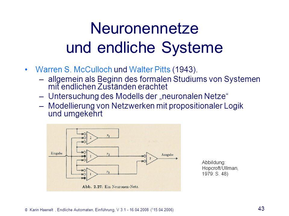 Neuronennetze und endliche Systeme