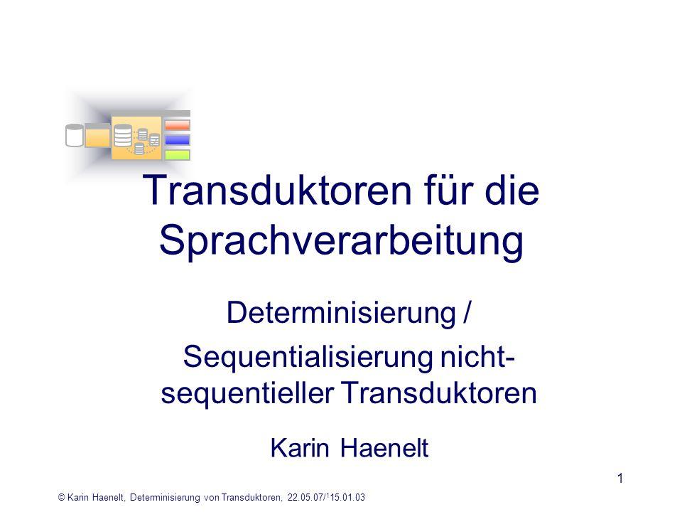 Transduktoren für die Sprachverarbeitung