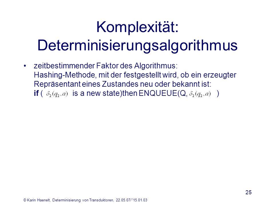 Komplexität: Determinisierungsalgorithmus