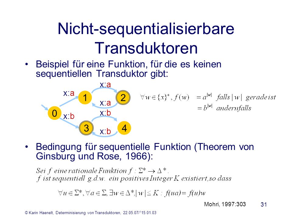 Nicht-sequentialisierbare Transduktoren