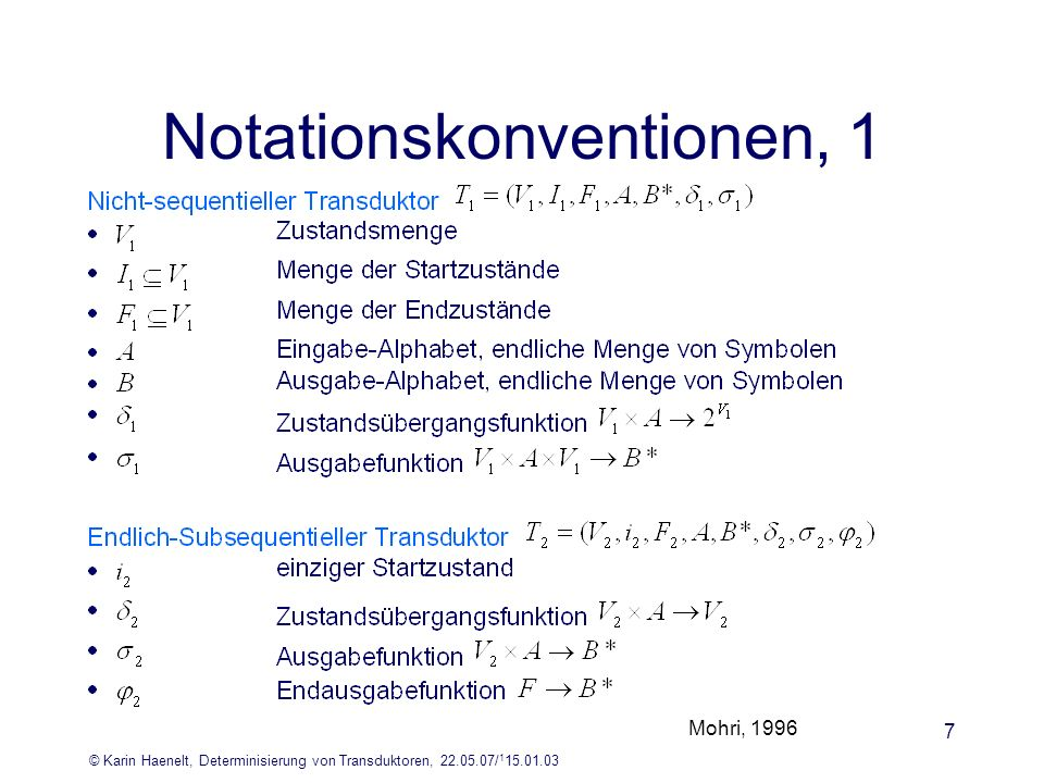 Notationskonventionen, 1