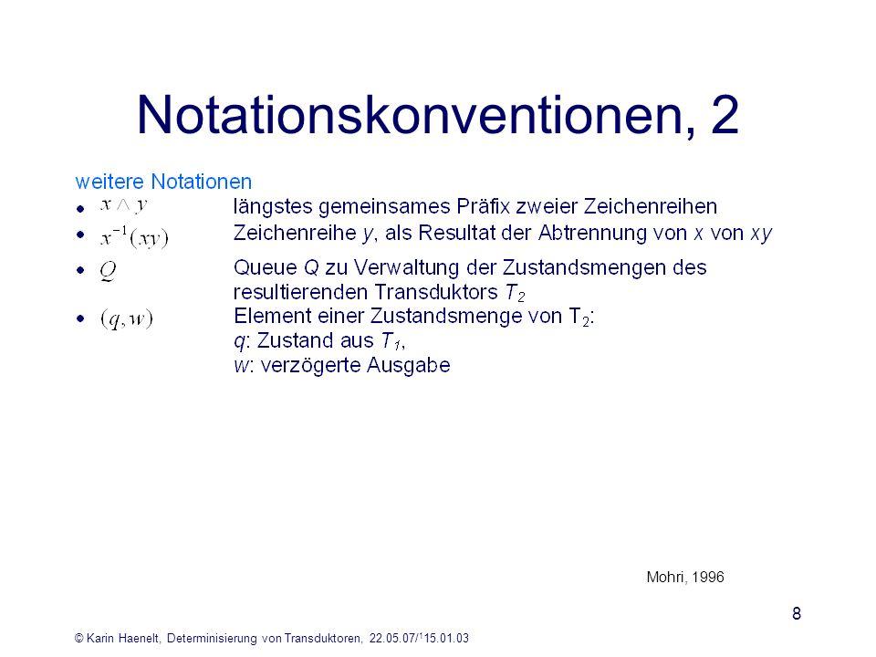 Notationskonventionen, 2