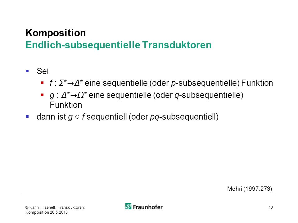 Komposition Endlich-subsequentielle Transduktoren