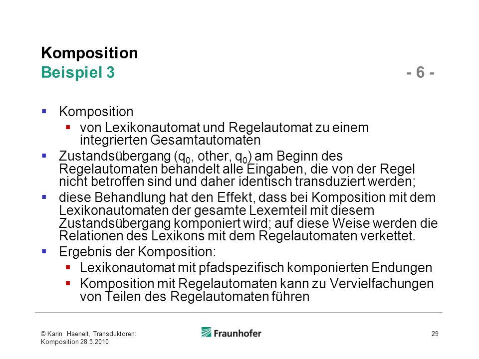 Komposition Beispiel 3 - 6 -