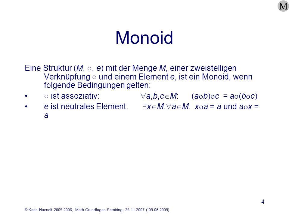 M Monoid.