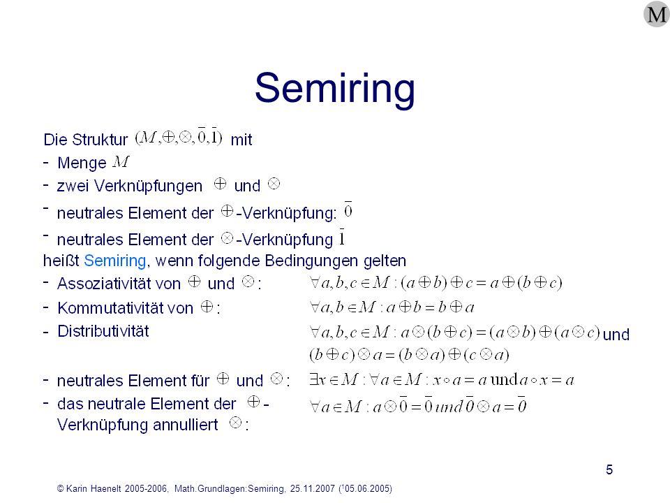 M Semiring