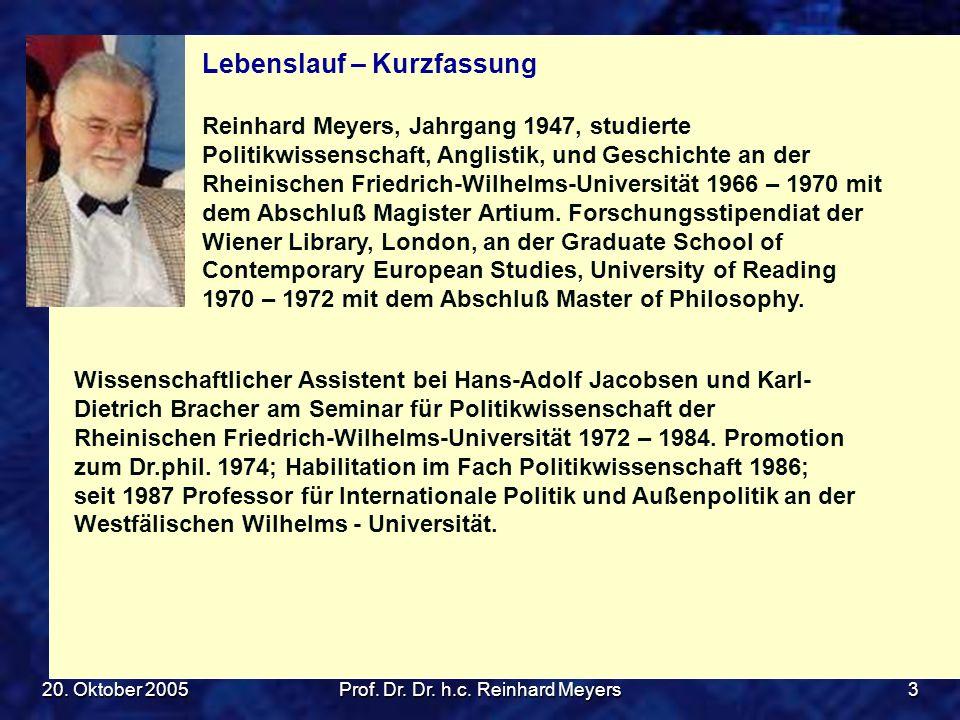 Prof. Dr. Dr. h.c. Reinhard Meyers