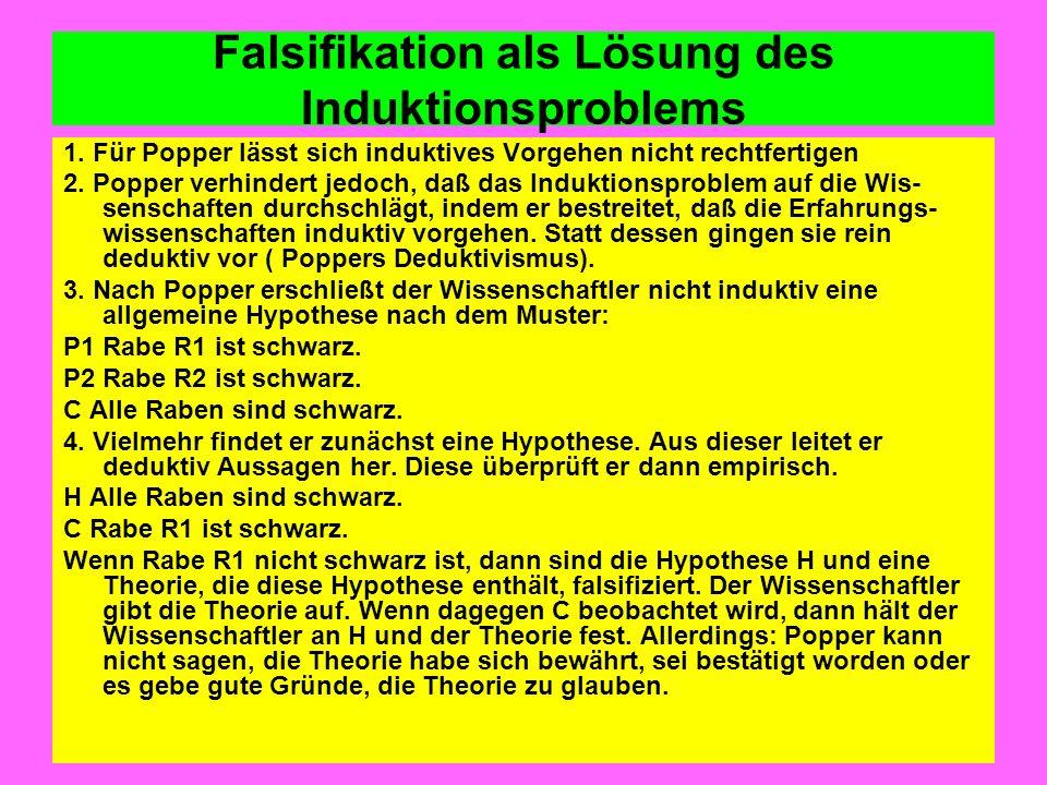 Falsifikation als Lösung des Induktionsproblems