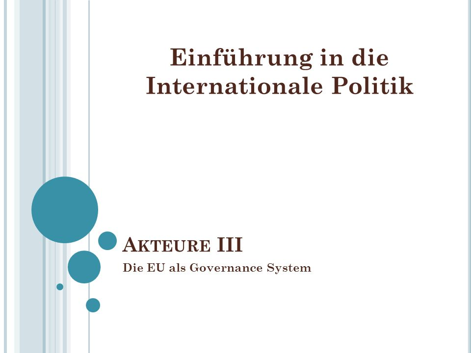 Die EU als Governance System