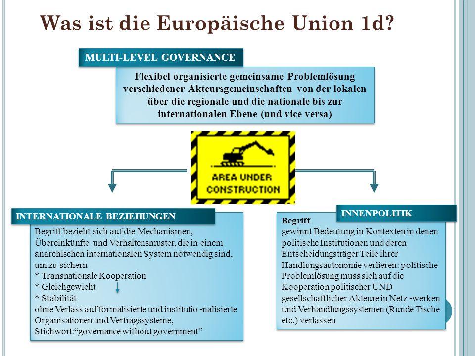 Was ist die Europäische Union 1d
