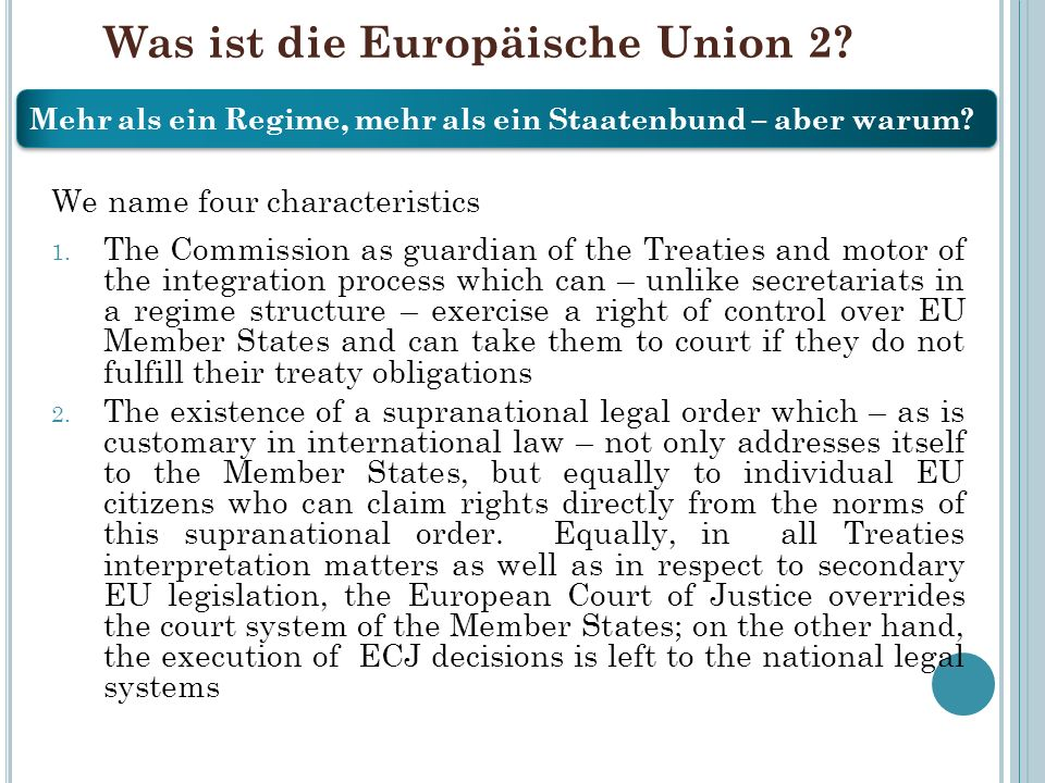 Was ist die Europäische Union 2