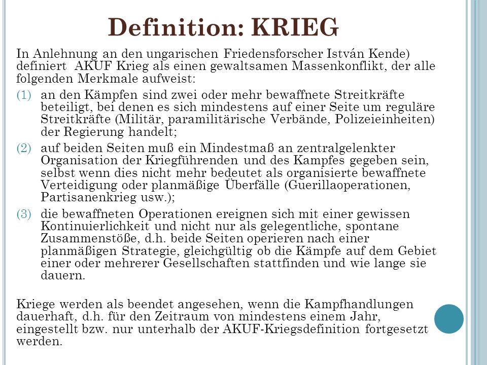Definition: KRIEG