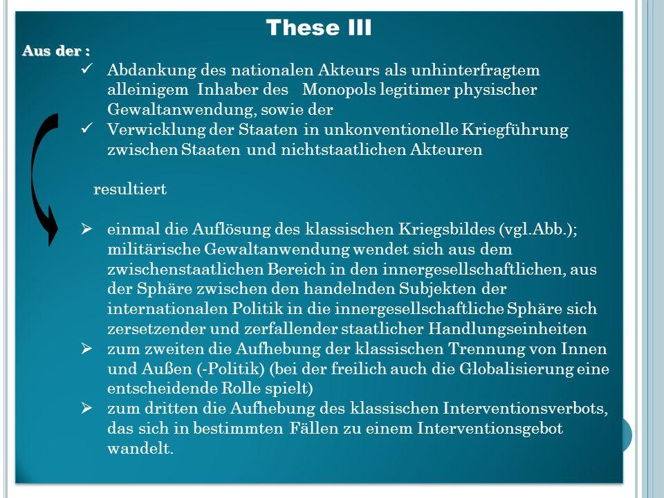 These III Aus der :