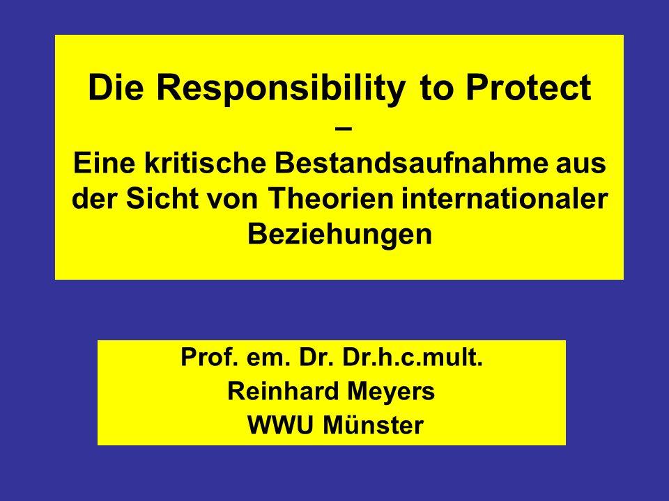 Prof. em. Dr. Dr.h.c.mult. Reinhard Meyers WWU Münster