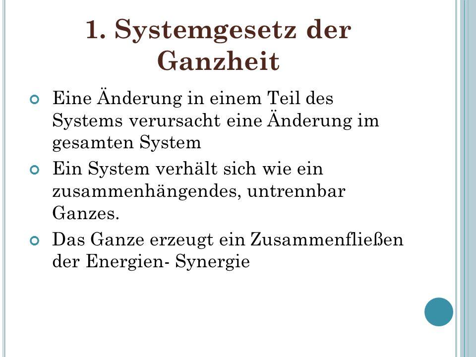 1. Systemgesetz der Ganzheit