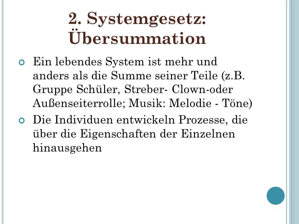 2. Systemgesetz: Übersummation