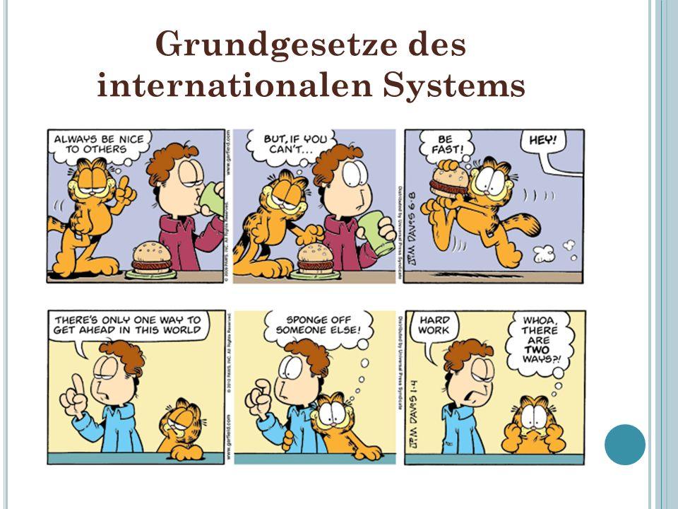 Grundgesetze des internationalen Systems