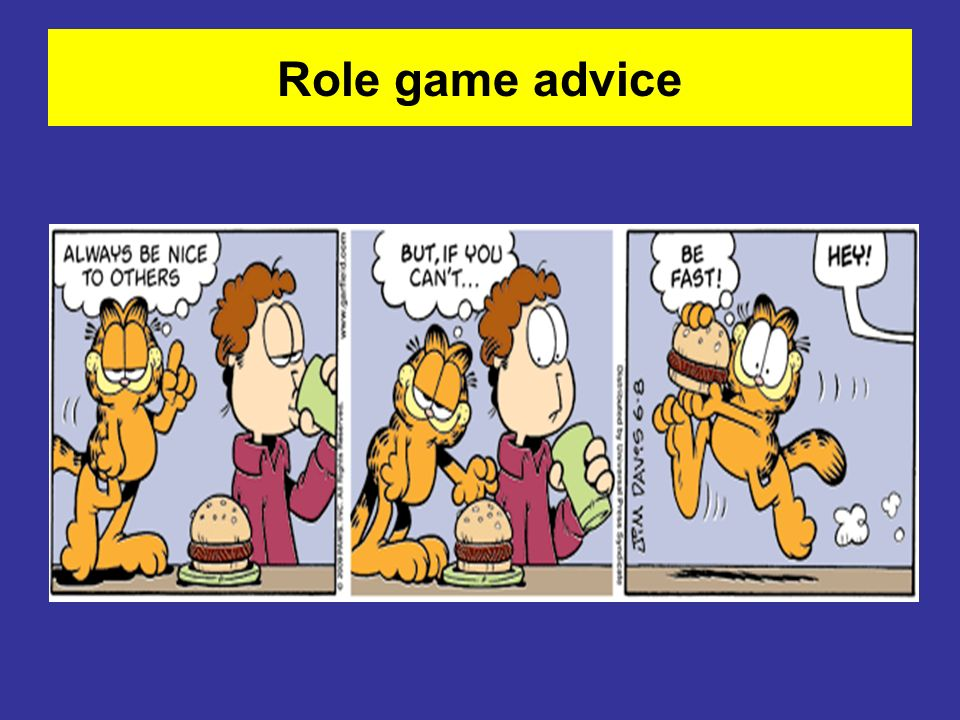 Role game advice