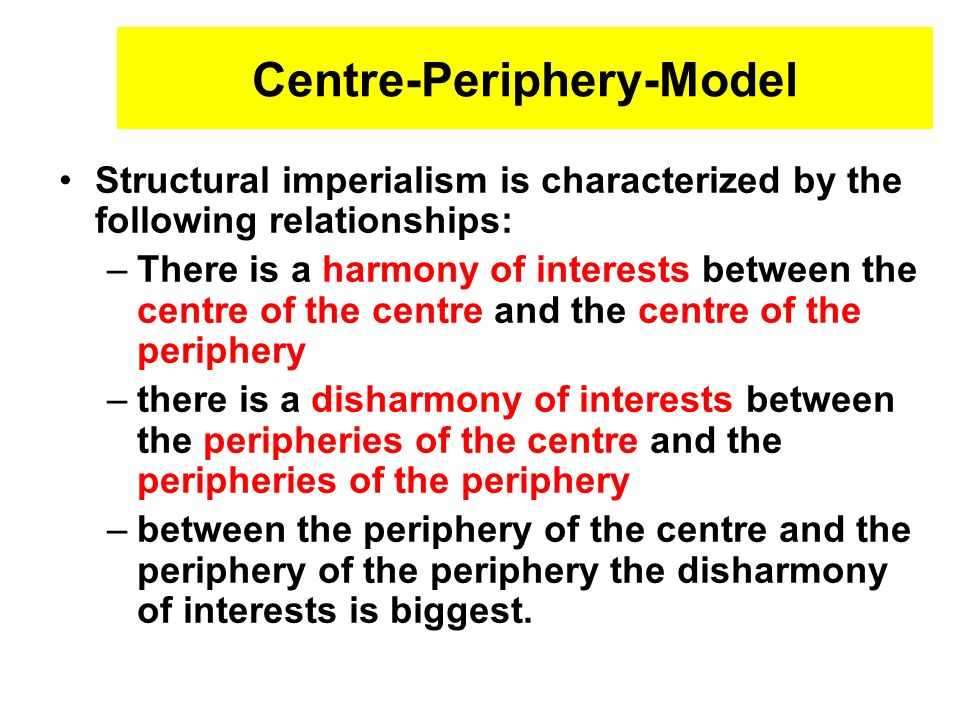 Centre-Periphery-Model