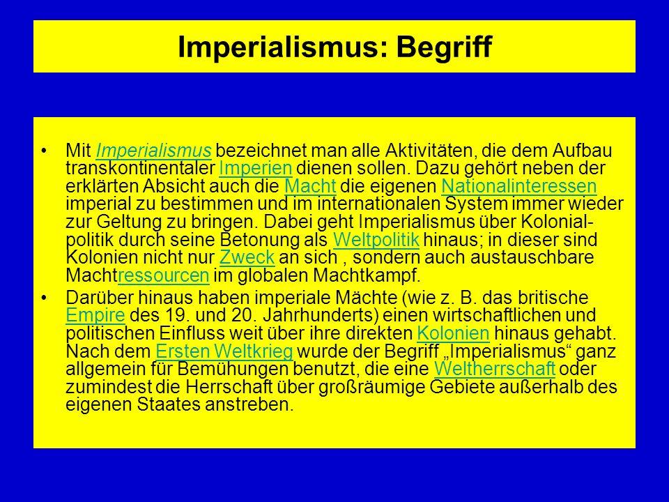 Imperialismus: Begriff