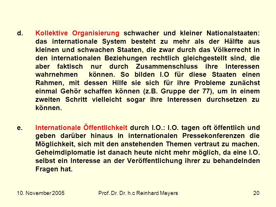 Prof. Dr. Dr. h.c Reinhard Meyers