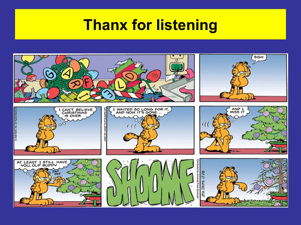 Thanx for listening