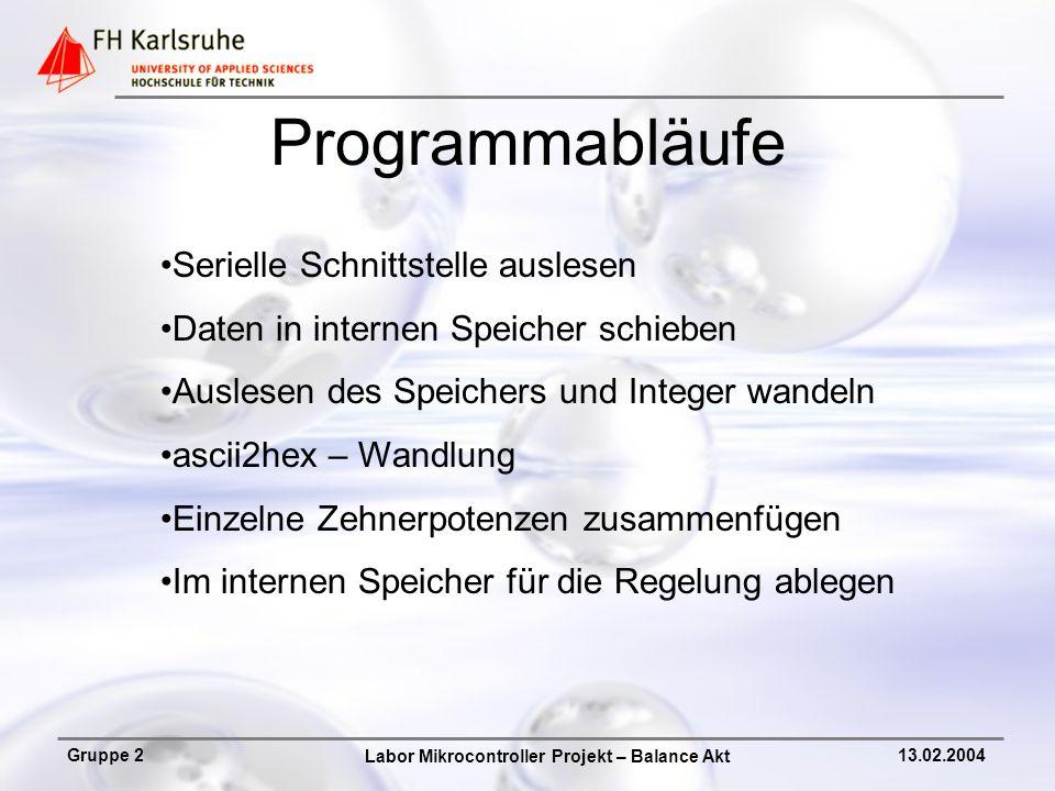 Programmabläufe Serielle Schnittstelle auslesen
