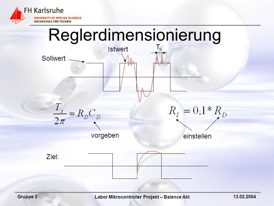 Reglerdimensionierung