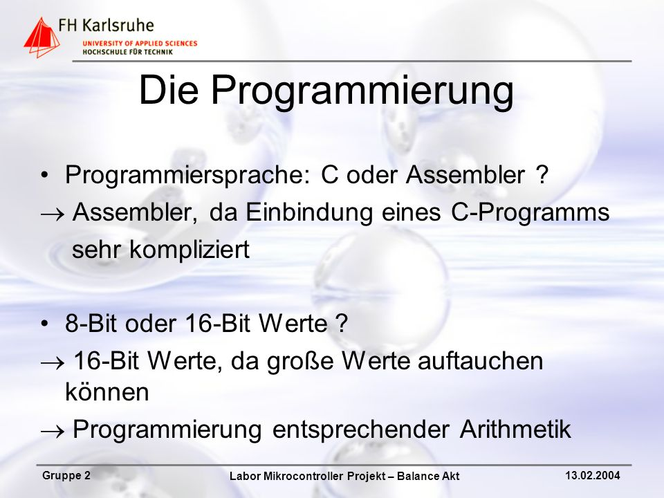 Die Programmierung Programmiersprache: C oder Assembler