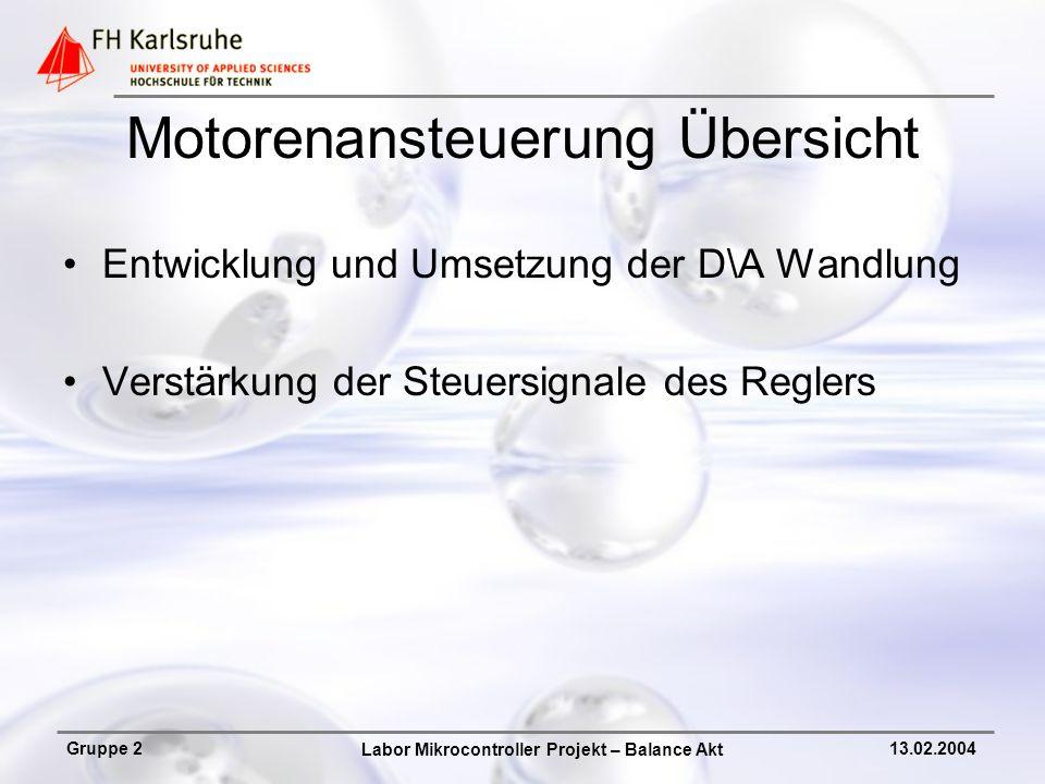 Motorenansteuerung Übersicht