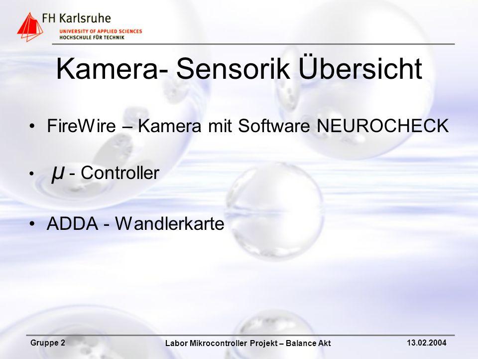 Kamera- Sensorik Übersicht