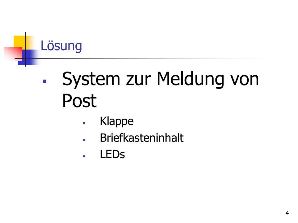 System zur Meldung von Post