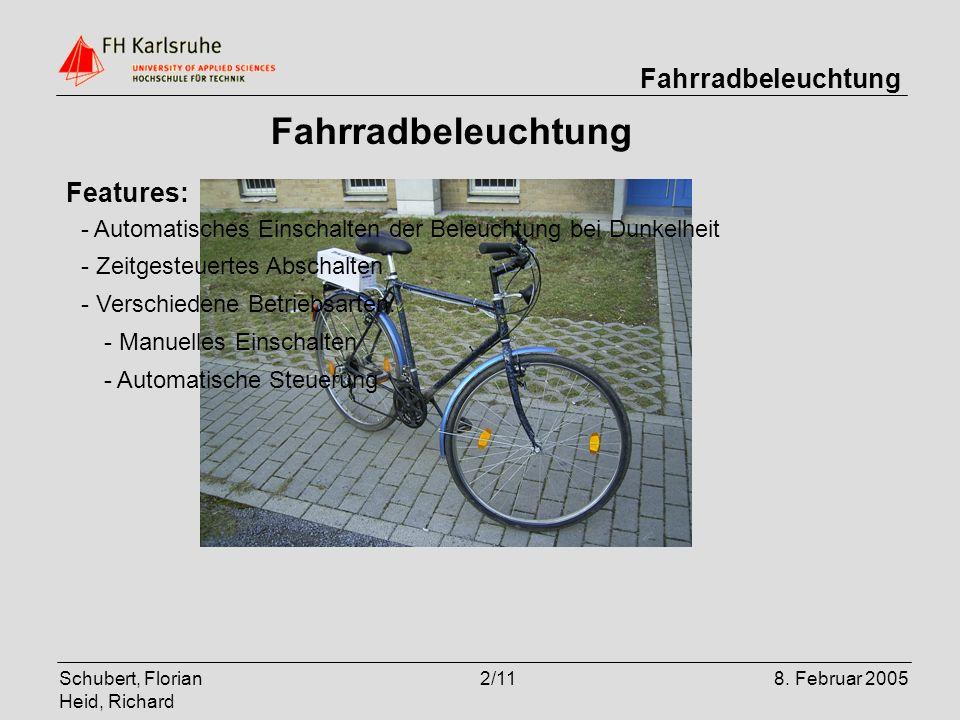 Fahrradbeleuchtung Features: