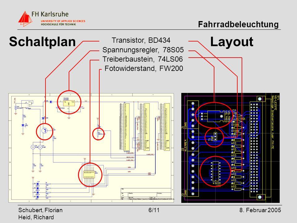 Schaltplan Layout Transistor, BD434 Spannungsregler, 78S05