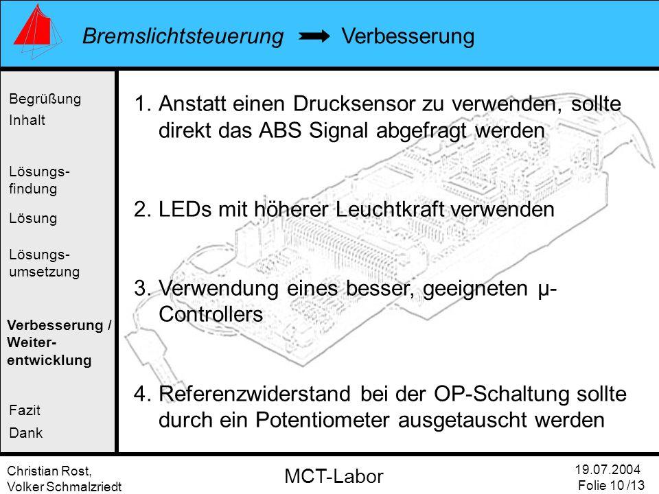LEDs mit höherer Leuchtkraft verwenden