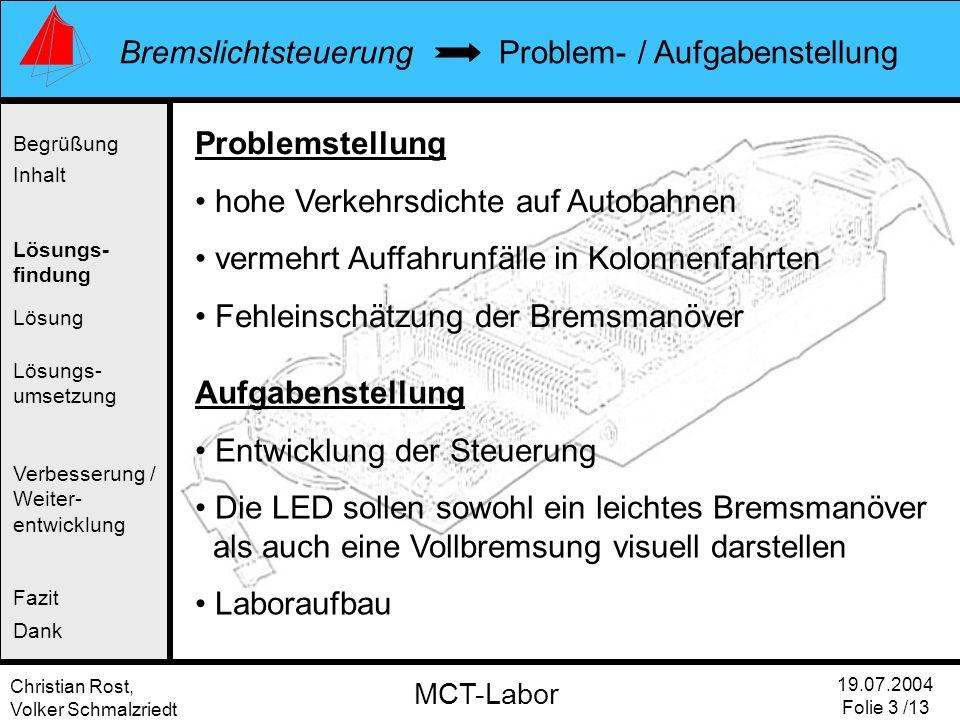 Problem- / Aufgabenstellung