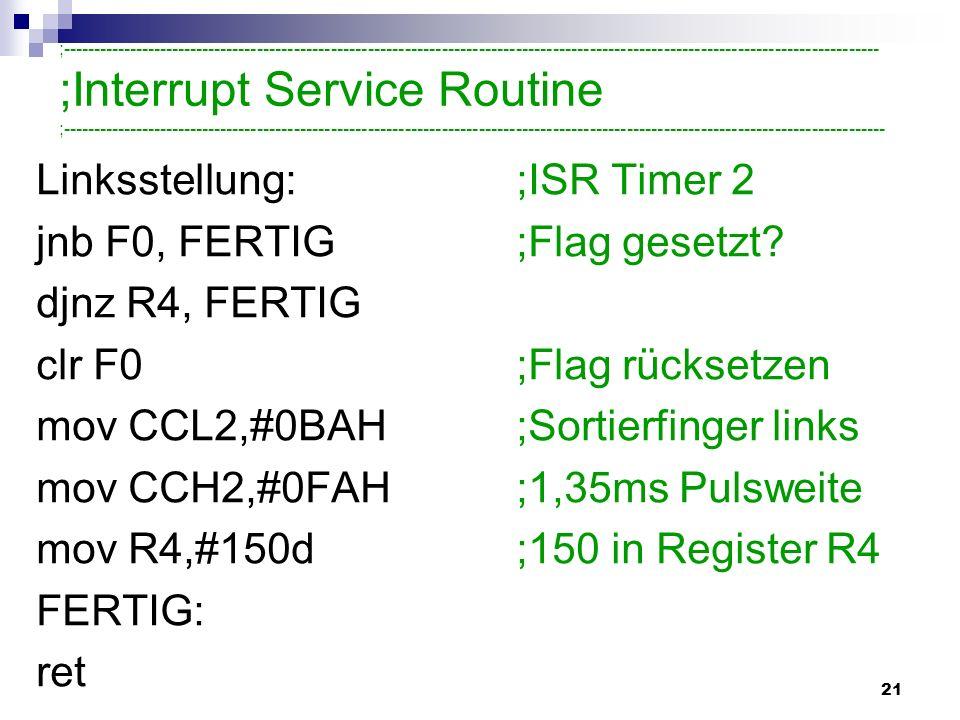 ;Interrupt Service Routine
