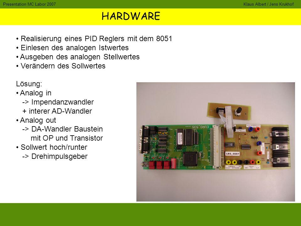 HARDWARE Realisierung eines PID Reglers mit dem 8051